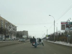 Дурачусь в центре города типа :)